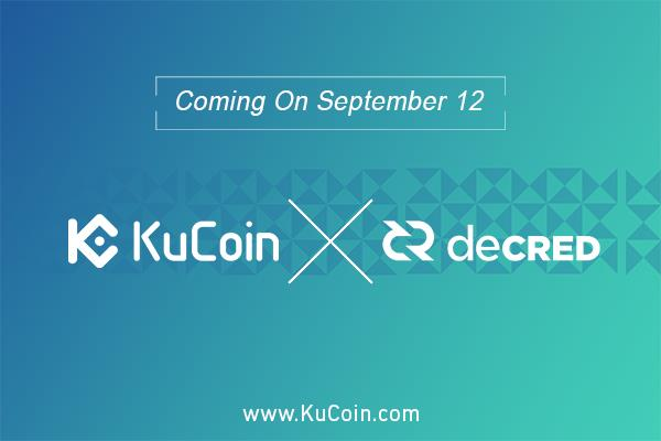 KuCoin Announces Its Listing Of Decred (DCR) To Their State-Of-The-Art Platform
