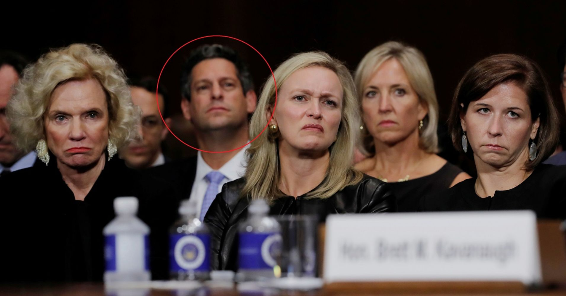 Facebook's head of policy was sitting front and center at Thursday's Kavanaugh hearings