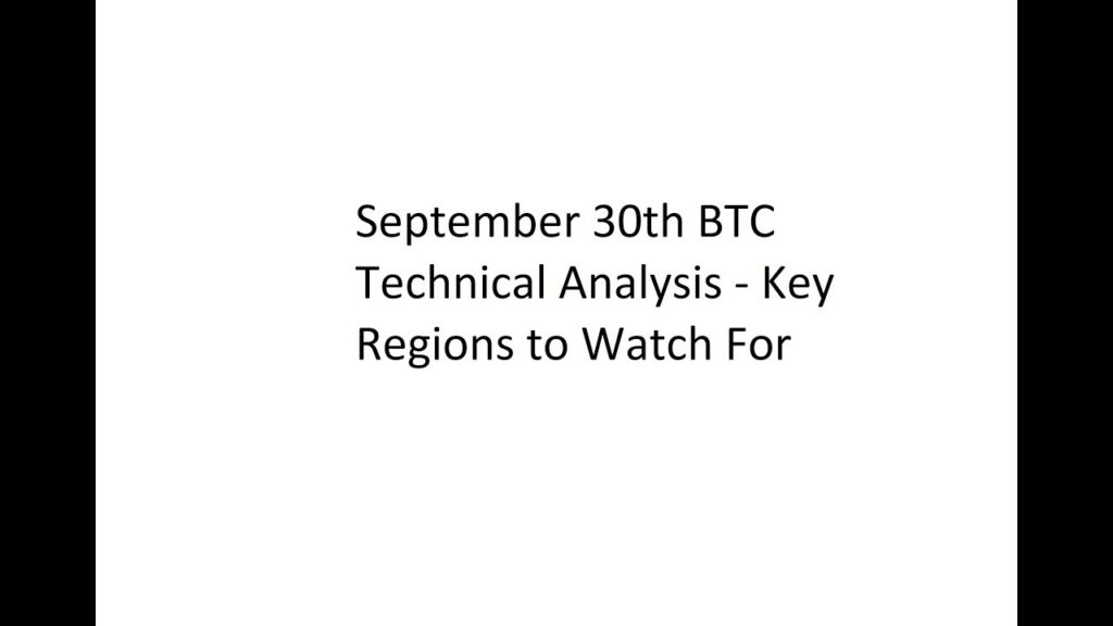 September 30th BTC Technical Analysis – Key Regions to Watch For