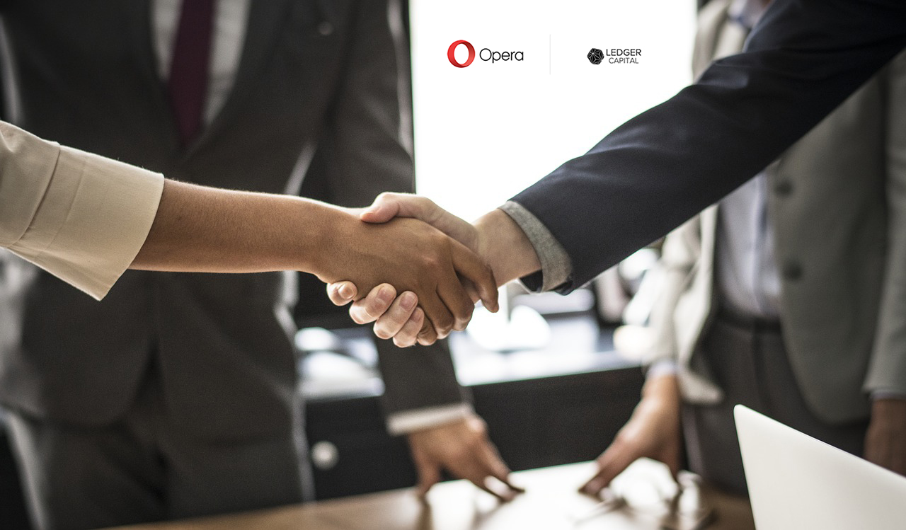 Opera Partners with Ledger Capital Seeking New Applications and Use Cases for Blockchain