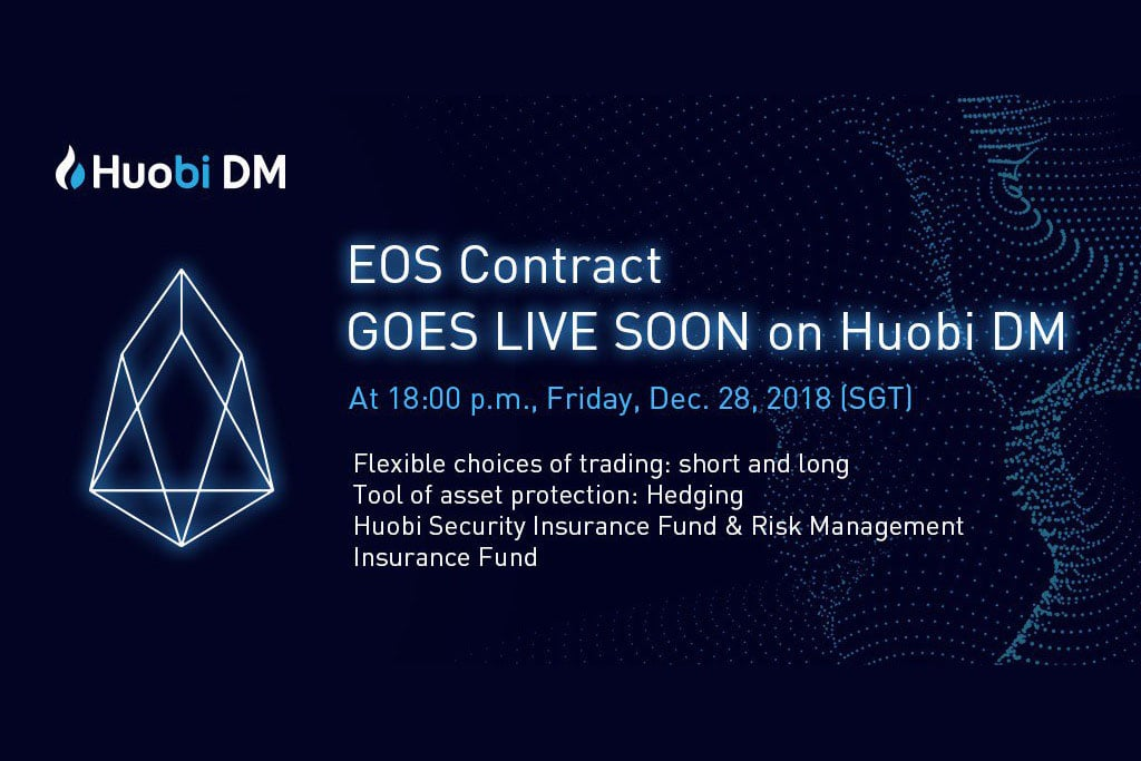 EOS Contract Joins Bitcoin and Ethereum on Huobi Derivative Market