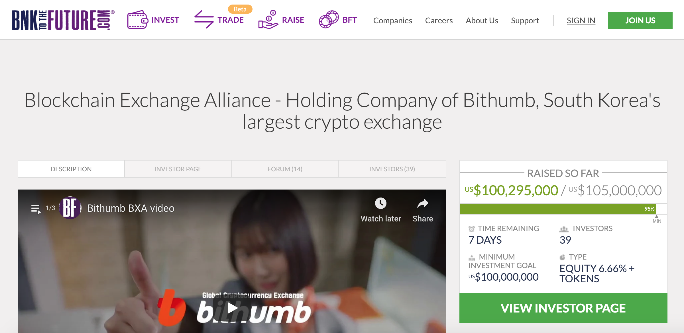 Bithumb Holding Company Looks to Raise US$100M in Equity Crowdfunding Campaign
