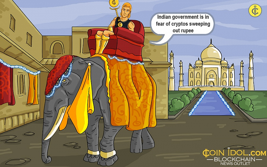 Indian Government is in Fear of Cryptos Sweeping Out Rupee Fiat Currency