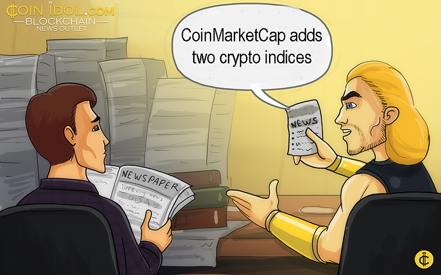 CoinMarketCap Adds Two Crypto Indices on Bloomberg, Nasdaq GIDS, Reuters