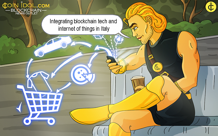 Integrating Blockchain Tech and Internet of Things in Italy