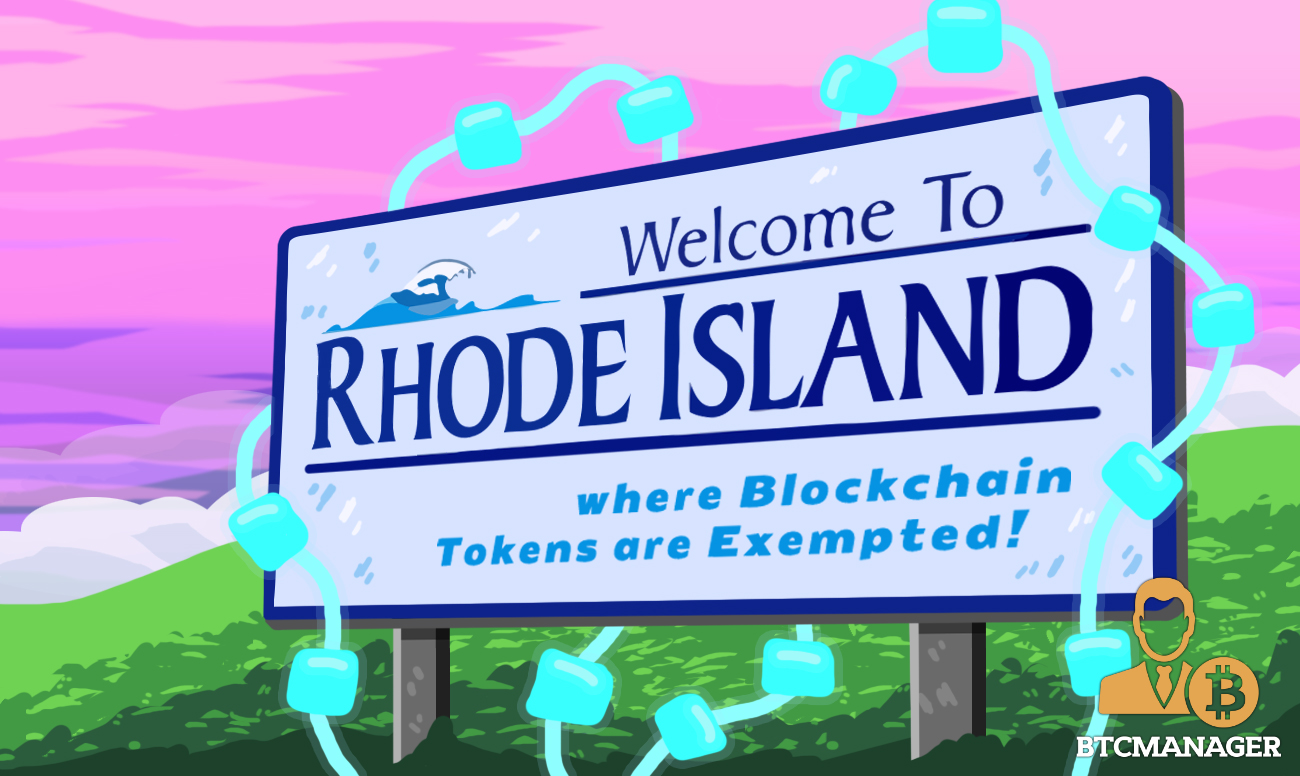 Cryptocurrency Regulation: Lawmakers in Rhode Island Introduce Bill Exempting Some Tokens from Securities Law – BTCMANAGER