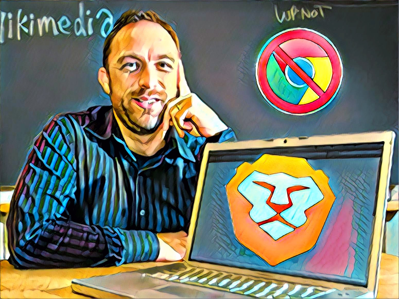 """Wikipedia Co-founder: Stop Using Chrome – """"I've switched to Brave"""""""