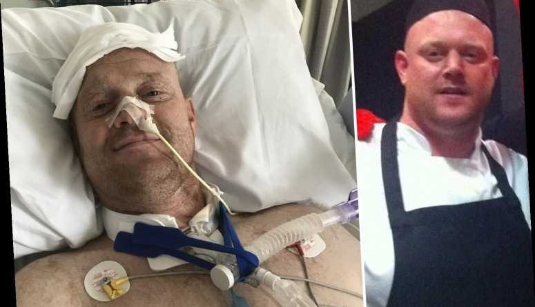 Dad left paralysed after breaking neck doing roly poly at family barbecue