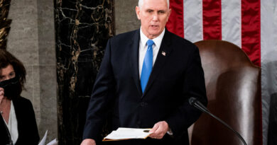 Pence, Diverging From Trump, Says He Was 'Proud' to Certify Election